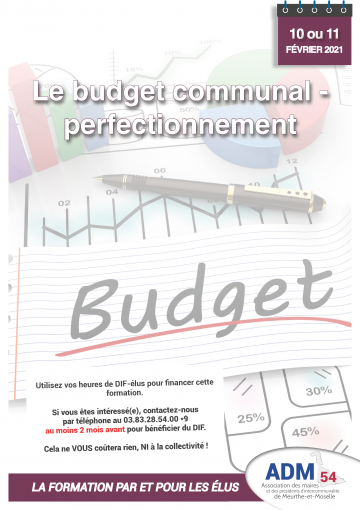 Le budget communal - perfectionnement